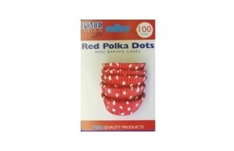 Red polka - 30x20mm